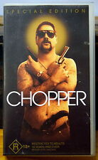 * CHOPPER * RARE SPECIAL EDITION RATED R Video Tape VHS PAL Mark Read COLLECTORS