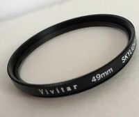 Vivitar Filter 49mm SKYLIGHT (1A) Glass Filters Japan Screw-in Lens