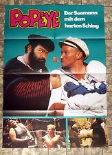 WALT DISNEY * POPEYE - A1-Filmposter Mot. B - German 1-Sheet 1981 ROBIN WILLIAMS