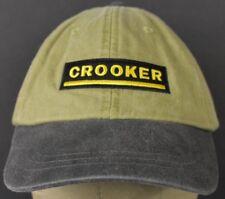 Crooker Construction Safety 1st Beige Baseball Hat Cap Adjustable Leather Strap