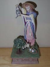 Duncan Royale Calendar Secrets April Figurine Lady w/ Lamb Basket Statue 12 1/4""