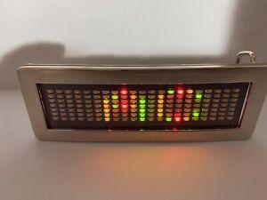 Multi-Color LED Programmable Message Board Metal Belt Buckle DIY Battery-Powered