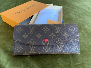 NEW LOUIS VUITTON EMILIE Monogram Zippered Coin Purse Long Wallet