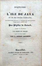 1837 – PFYFFER ZU NEUECK, ESQUISSES DE L'ILE DE JAVA, ETNOGRAFIA GIAVA INDONESIA