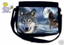 Sac bandoulière moyen modèle loup réf 39 personnalisé avec prénom