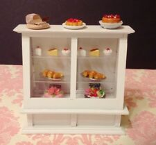 Dollhouse Miniature Store White Wood Food Shelf Display Cabinet 1:12 no food