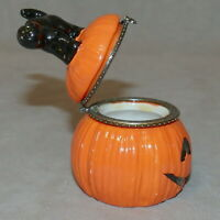 Trinket Box Jewelry Holder HALLOWEEN Pumpkin Cat