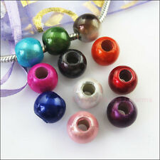 20Pcs  Acrylic Loose Spacer Beads 5mm Hole fit European Charms Bracelets 12mm