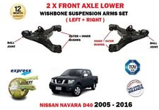 FOR NISSAN NAVARA D40 PICKUP 2005-> LEFT + RIGHT LOWER 2 WISHBONE SUSPENSION ARM