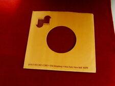 "JANUS RECORDS~ VINTAGE ORIGINAL ~ RECORD COMPANY SLEEVE ~ 7"" SINGLE 45 RPM"