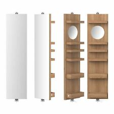 Wireworks Revolve 1140 Cosmos Combination Bathroom Mirror & Shelves Natural Oak