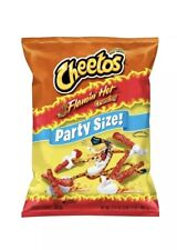 NEW FRESH BAG CHEETOS FLAMIN HOT CRUNCHY CHIPS PARTY SIZE 17.5 OZ