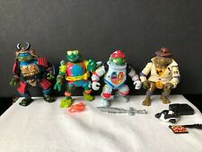 Vintage 4 Disguised TMNT Playmates Toys 1990 With Some Accessories