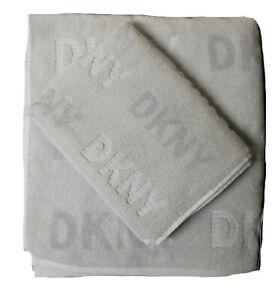 DKNY Home Set Towels Bath Hand Grey Designer BNWT JC42 Authentic Genuine