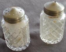 Vintage Pressed Glass Salt & Pepper Set - VGC - ELEGANT LOOK - BEAUTIFUL GLASS