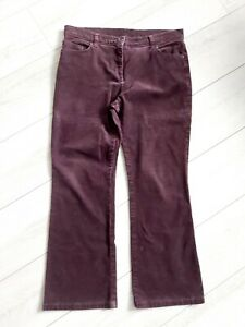 Marks And Spencer Size 12 Burgundy Cord Trousers Bootcut