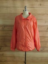 L8-44 Plus Size HABAND Bubble Gum Pink Nylon Windbreaker Snap Button Jacket 2XL