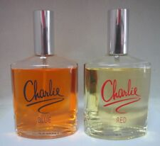 """Lot of 2"" Revlon Charlie Red & Blue Eau De Toilette Spray 3.4 oz See Descr"