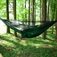 Portable Double Camping Hammock with Mosquito Net Nylon Tent Hanging Bed A