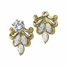 Diamond Earring Jackets In 14K Yellow Gold (9/10 ct. tw