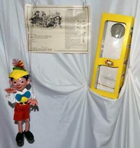 "SCARCE N.O.S. DISNEY1960's""PINOCCHIO PELHAM PUPPET""# SL7+3PIECE BOX+INSTRUCTIONS"