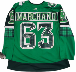 Brad Marchand Boston Bruins signed Authentic Jersey St. Patricks 2021