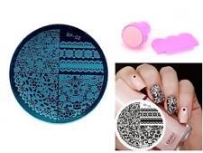 Nail Art Stamp Image Plate Chic Lace Pattern Manicure Stamper Scraper Kit  BP 02