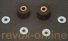 2 andruckrollen 8.0mm y 8.5mm para Studer a710 Revox b710 + 4 gleitscheiben nuevo