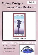 """Anzac Dawn Bugler"" Counted Cross Stitch Chart EU250C"