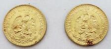 2-Mexico 1945 Gold 2-Peso's Coins Bu+ w/red spots .0482Agw each L7891