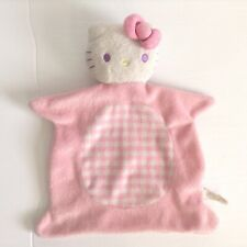 Sanrio Hello Kitty Pink Security Blanket Lovey Square Flat Plaid
