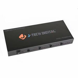 J-Tech Digital ProAV Ultra HD 4K HDMI 4 X 4 Matrix Switcher 4 supports 4K x 2K