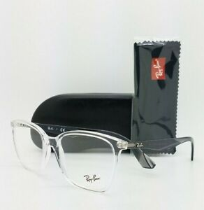 NEW Rayban Prescription Frame Translucent Clear RX7066 5768 54mm 7066 AUTHENTIC