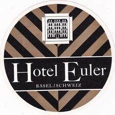 Switzerland Basel Hotel Euler Vintage Luggage Label sk1135