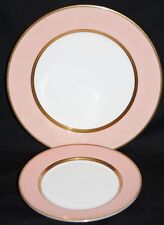 """Fitz and Floyd Renaissance Peach Dinner Plate 10-3/8"""" And Lunch Plate 7-1/2"""""""