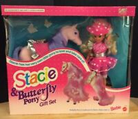 1993 Mattel STACIE & Butterfly Pony Gift Set  #10227 NEW