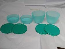 Tupperware 2- 6 oz Little Wonder Bowls, 2-13 1/2oz Refrigerator Bowls Laguna NEW