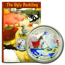 Isle of Man The Ugly Duckling Colored Crown 2005  UNC On Card