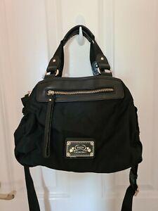 Bx24) Trendy Black Handbag with Gold Detail by Zucca International