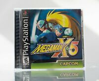 Mega Man X5 Black Label Sony Playstation PS1 Complete Clean