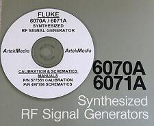 FLUKE 6070A 6071A Generator Complete 4 Volume Set Operating & Service Manuals