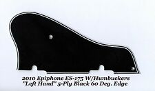 2010 Epiphone LEFT HAND ES-175 5Ply Black Pickguard 60 Deg Guitar Project NEW