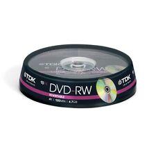 1x10 TDK DVD-RW REWRITABLE 4.7gb 1x4x Cakebox (t19525) Nuovo (Worldwide) 001-950