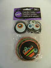 Wilton Ghoulish Gourmet Halloween Cupcake Baking Liner and Toothpick Combo Pack