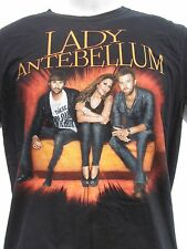 Lady Antebellum concert 2 side T-shirt 2010 tour black sz M Medium country music