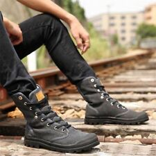 Winter Mens Canvas Boot Velvet Lined Warm Hiking Military Work High Top Shoes V7