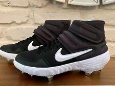 Nike Alpha Huarache Elite 2 Mid Baseball Cleats Black AJ6874-001 Men's sz 8