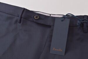 Zanella Platinum NWT Dress Pants Size 35 Navy Blue Loro 150's Wool Parker $550