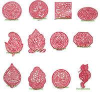 12 x Henna Reusable Rubber Stencils Henna Temporary Tattoo Body Art Design Kit