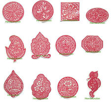 12 x Henna Reusable Rubber Stencils Henna Temporary Tattoo Body Art Design Kit